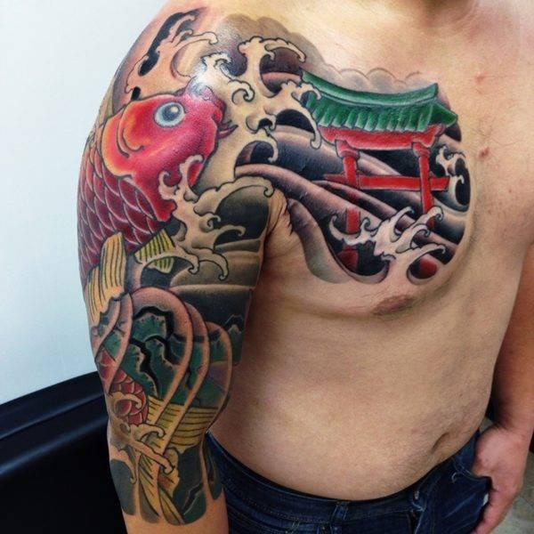Japanese tattoo Koi sleeve