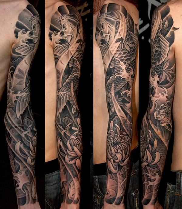 JAPANESE FULL SLEEVE TATTOOS BY BARDADIM TATTOO BROOKLYN NYC