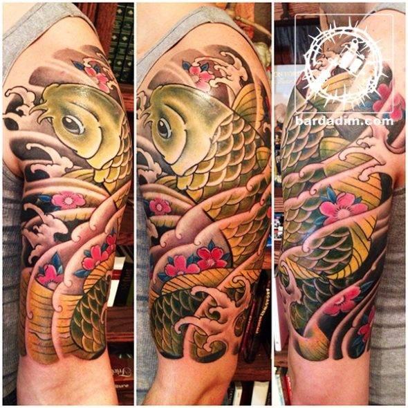 Japanese Tattoo. Koi Sleeve