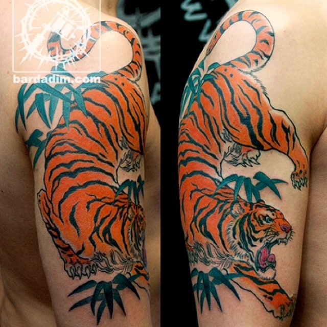 Japanese Tiger Tattoo By George Bardadim Bardadim Tattoo Nyc