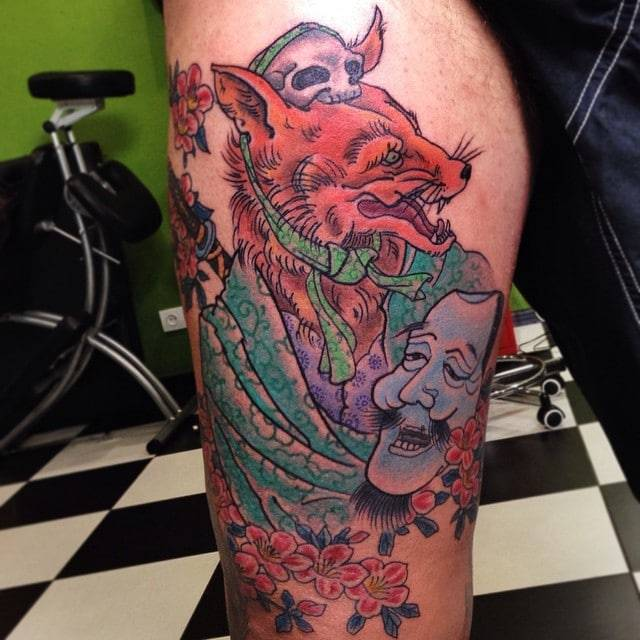 Kitsune tattoo - Kitsune Fox Japanese Tattoo