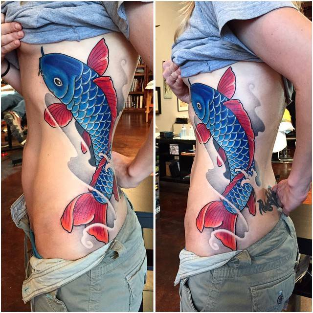 Koi cover up tattoo