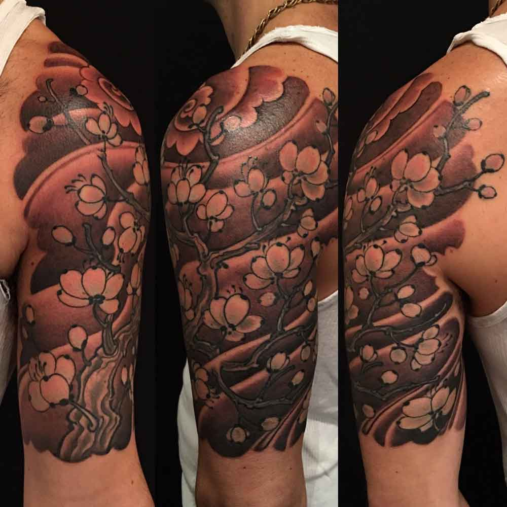 Plum tattoo sleeve