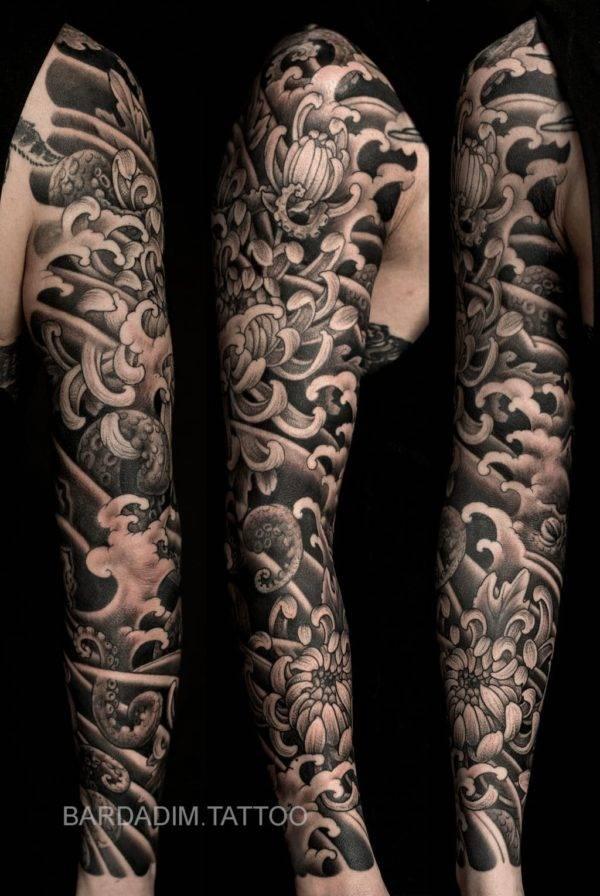 Japanese Full Sleeve Tattoos By Bardadim Tattoo Brooklyn Nyc