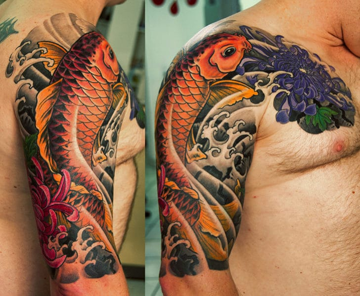 Koi Fish Tattoo Half Sleeve