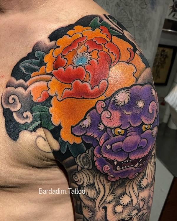 Foo dog Japanese Tattoo