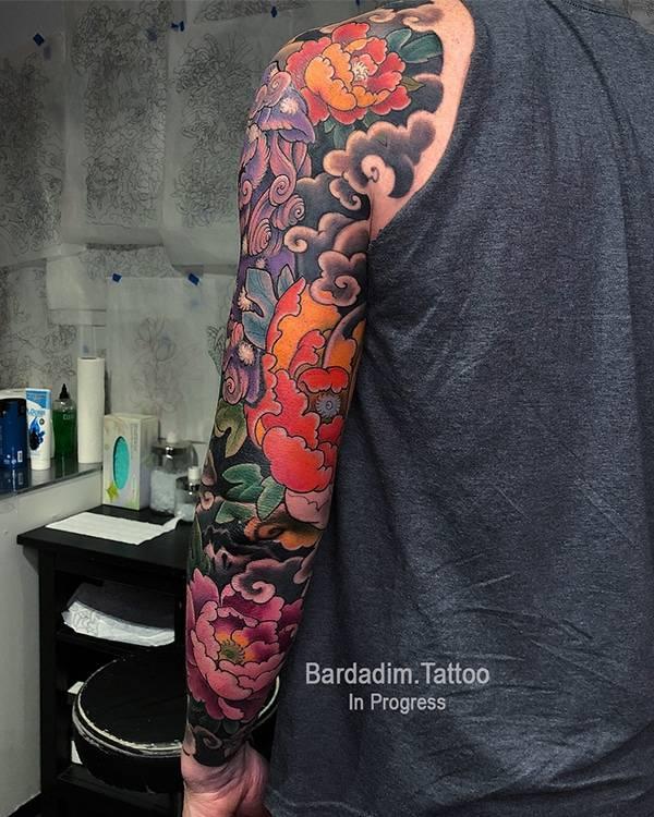 Japanese Lion Dog Tattoo