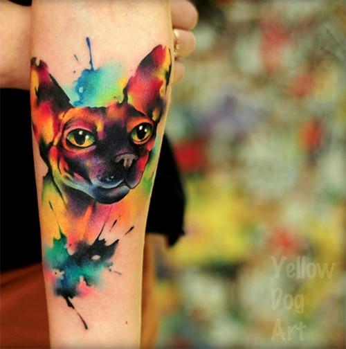 Yellow Dog Tattoo