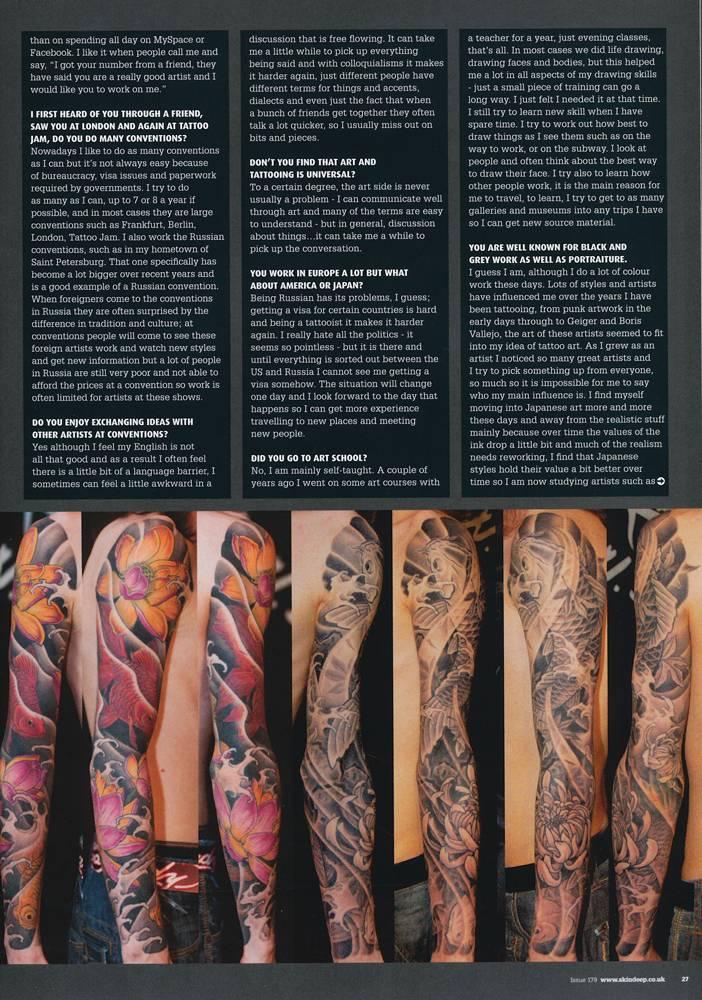 Skin Deep Magazine issue # 179, October 2009. UK