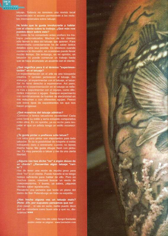 Tattoo Arte Magazine, 25/2004.