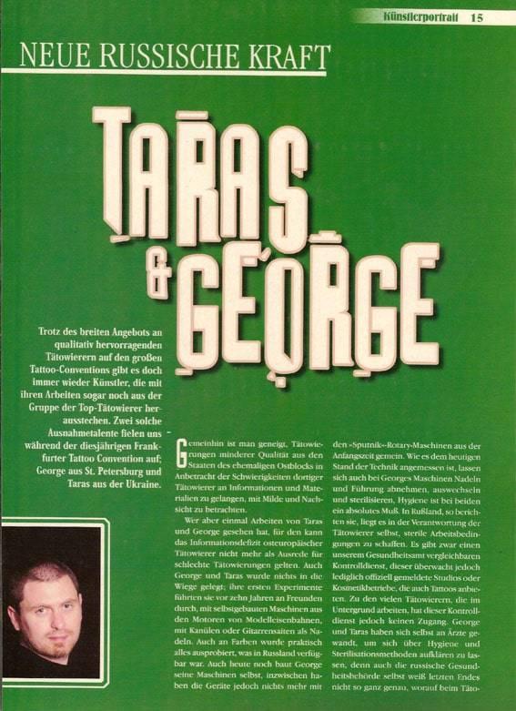 Tatowier Magazine, 11/1999. Germany.