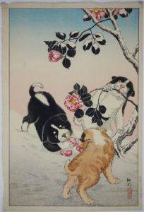 Dogs in Japanese print