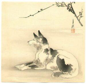 Dog Japanese print