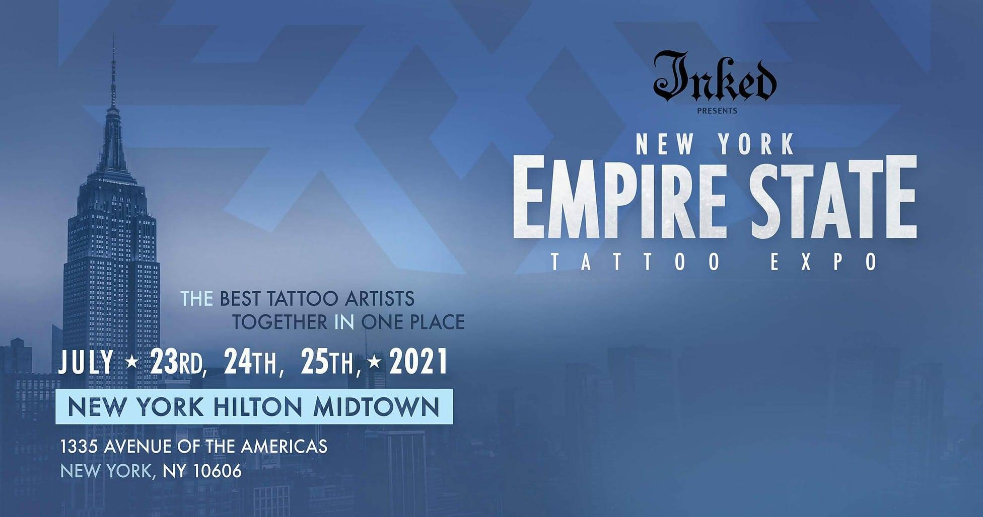 Empire State tattoo expo banner