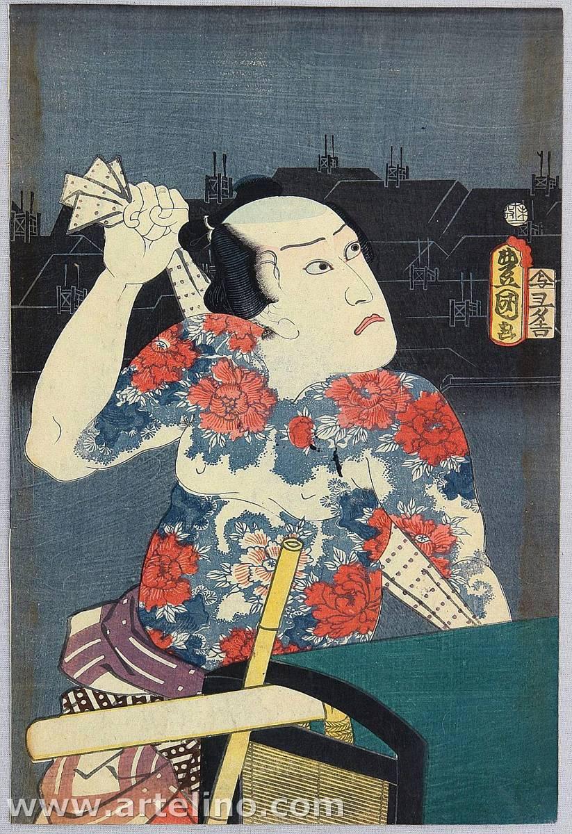 Toyohara Kunichika. japanese tattoo